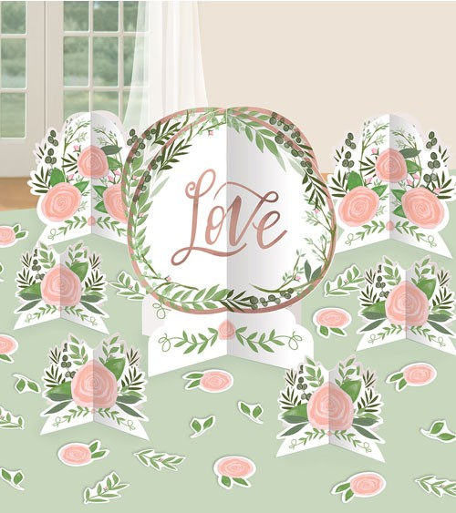 "Tischdeko-Set ""Love & Leaves"" - 27-teilig"