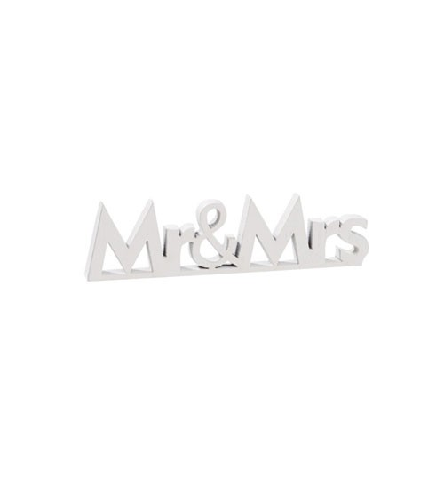"""Mini-Holzaufsteller """"Mr & Mrs"""" - weiß - 2 Stück"""