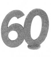 """Tischaufsteller """"60"""" - silber - 12 x 10 cm"""
