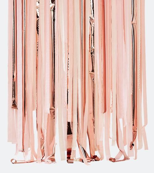 Streamer Backdrop - rosa, pfirsich, pastellgelb, metallic rosegold