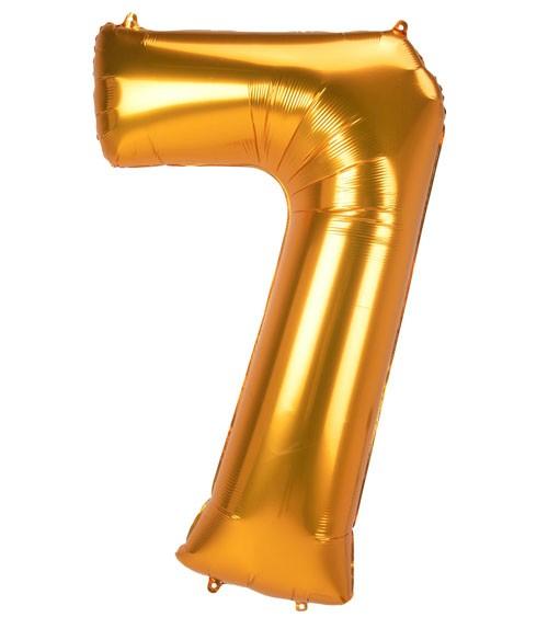 "JumboShape-Folienballon Zahl ""7"" - gold - 83 x 134 cm"
