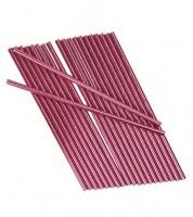 Papierstrohhalme - metallic pink - 25 Stück