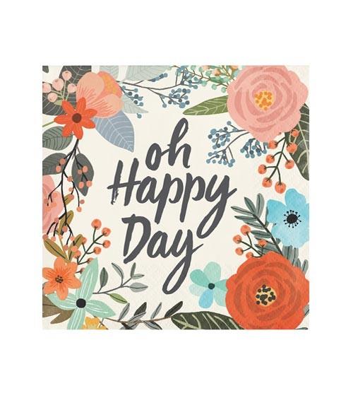 """Cocktail-Servietten """"Oh Happy Day"""" - 24 Stück"""