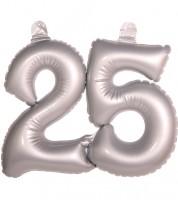 """Aufblasbare Zahl """"25"""" - silber"""