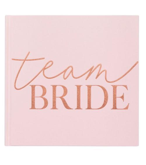 Team Bride Gästebuch aus Samt - 21 x 21 cm