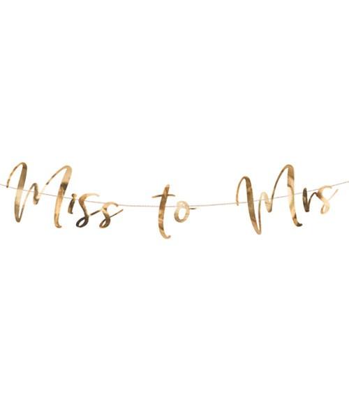 """Schriftzuggirlande """"Miss to Mrs"""" - rosegold - 76 cm"""