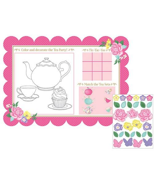 """Platzsets """"Floral Tea Party"""" - 8 Stück"""