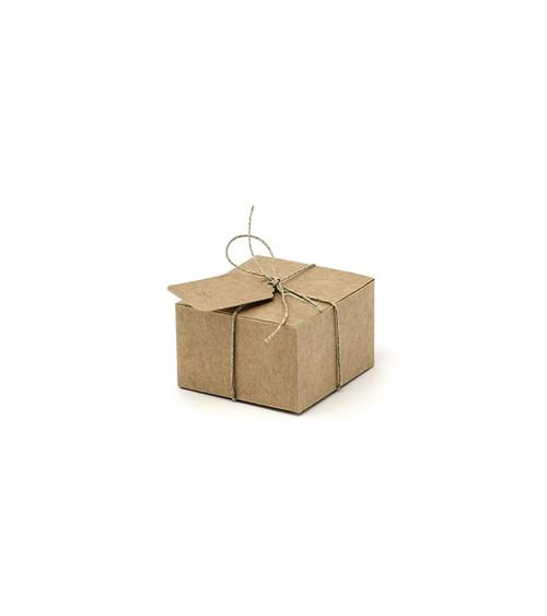 Kraftpapier-Geschenkschachtel-Set - 21-teilig