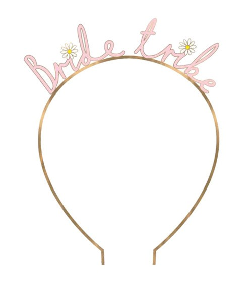 Bride Tribe-Haarreif aus Metall - rosa, rosegold
