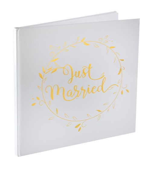 "Just Married-Gästebuch ""Gold & White"" - 24 cm"