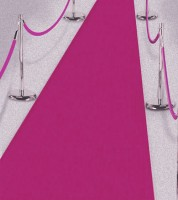 Pinkfarbener Teppich  - 50 cm x 4,5 m