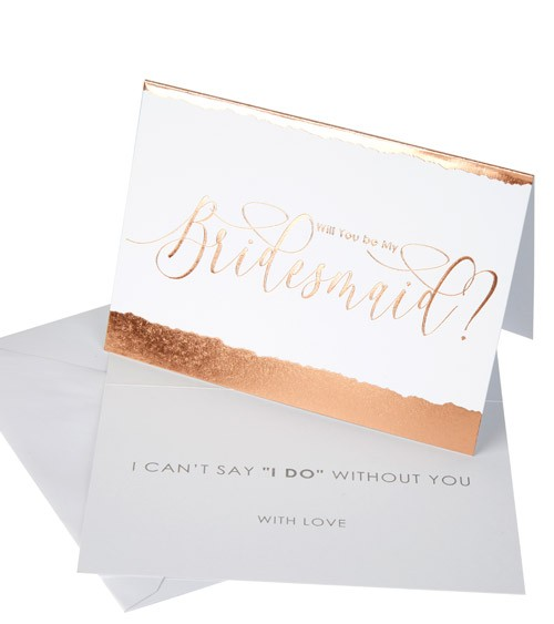 """Will you be my Bridesmaid-Karten """"Dipped in Rosegold"""" - 3 Stück"""