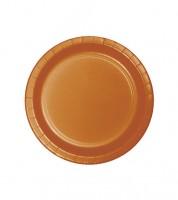 Kleine Pappteller - pumpkin - 24 Stück