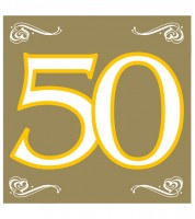 50 Jahre Gold Schimmernde Deko Fur Die Goldene Hochzeit
