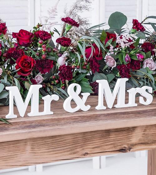 """Holzbuchstaben """"Mr & Mrs"""" - weiß - 50 x 9,5 cm"""