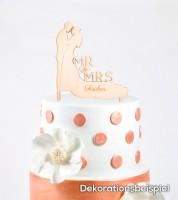 """Dein Cake-Topper """"Mr & Mrs - Silhouette"""" aus Holz - Wunschtext"""