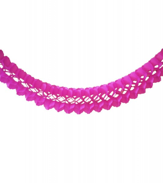 Seidenpapiergirlande - pink - 4 m