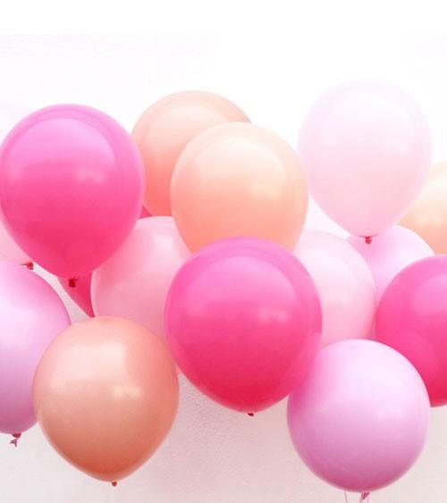 """Luftballon-Set mit Band """"Farbmix Pink"""" - 17-teilig"""