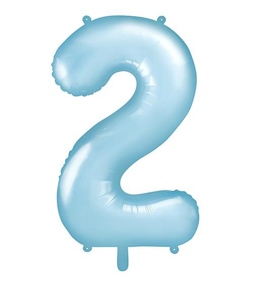 "Supershape-Folienballon ""2"" - pastellblau - 86 cm"