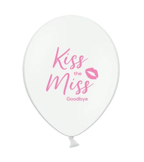 """Transparente Ballons """"Kiss the Miss Goodbye"""" - pink - 10 Stück"""