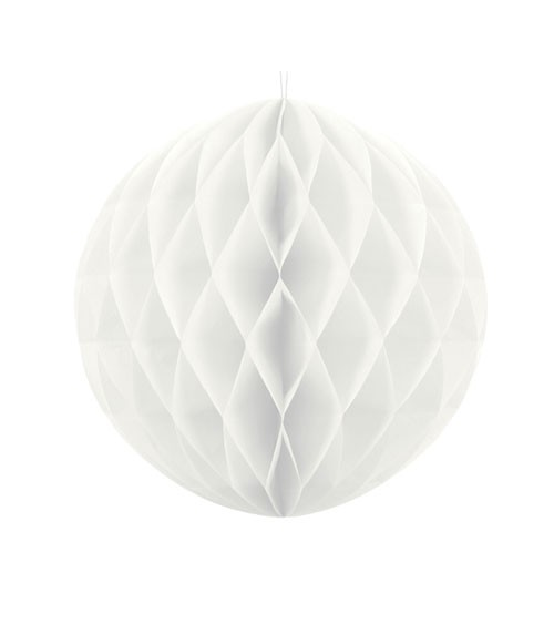 Wabenball - 20 cm - weiß