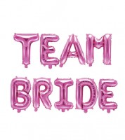 "Folienballon-Set ""Team Bride"" - pink"