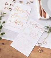"""Advice Cards """"Happily Ever After"""" - rosegold - 10 Stück"""