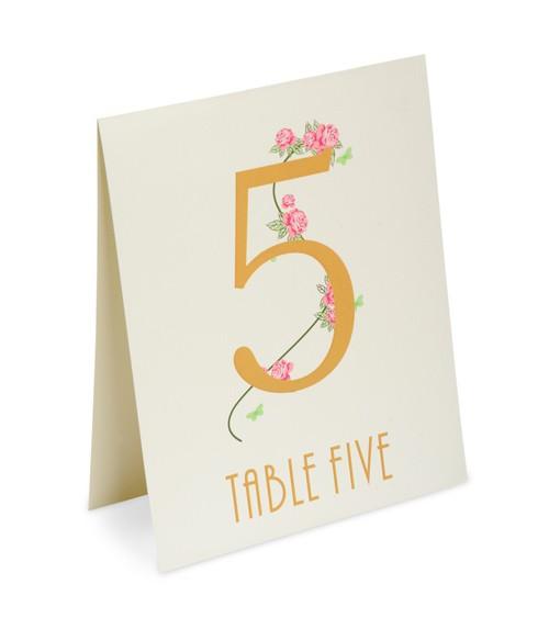 """Tischnummern """"Country Garden"""" 1 bis 15 - elfenbein"""