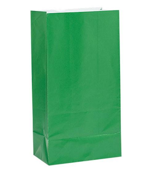 12 Papiertüten - grün