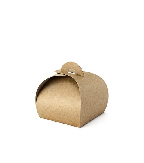 Kraftpapier-Geschenkboxen - 6 x 6 cm - 10 Stück