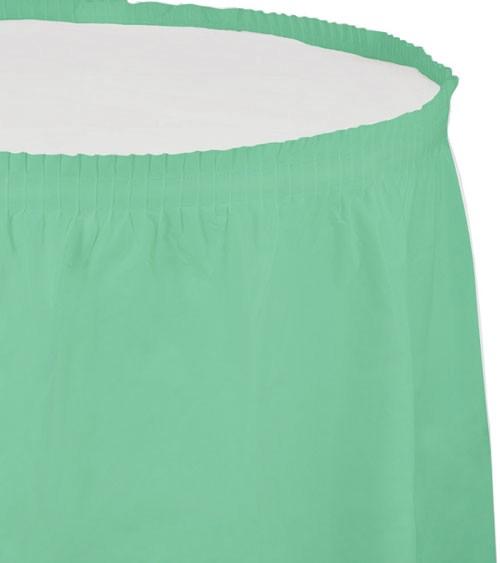 Tischverkleidung - fresh mint - 4,26 m