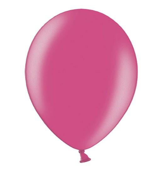 Metallic-Luftballons - hot pink - 50 Stück