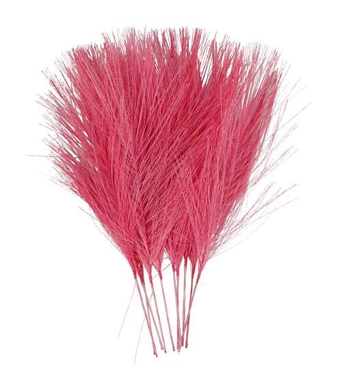 Künstliche Federn - 8 x 15 cm - pink - 10 Stück
