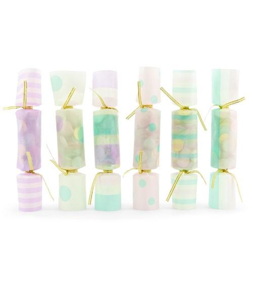 Konfetti-Knallbonbons - pastell - 6 Stück