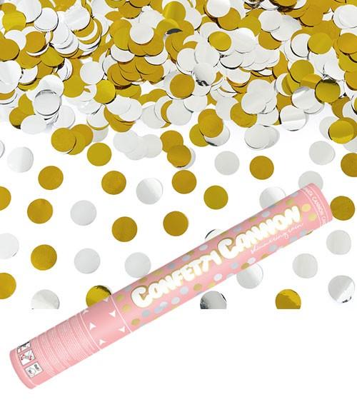 Konfetti-Kanone - gold & silber - 40 cm