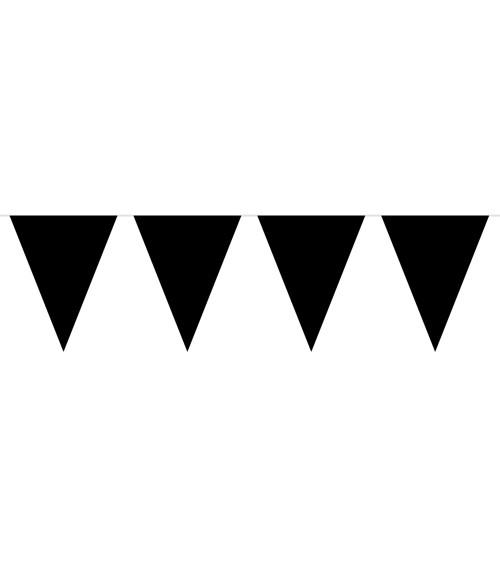 Mini-Wimpelgirlande aus Kunststoff - schwarz - 3 m