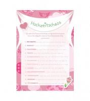 """10 Spielekarten """"Hochzeitschaos"""""""