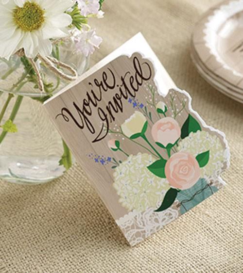 """8 Einladungskarten """"Rustic Wedding"""""""