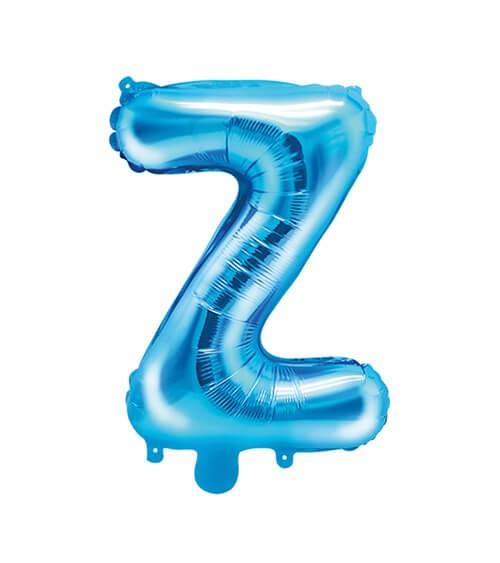 "Folienballon Buchstabe ""Z"" - blau - 35 cm"