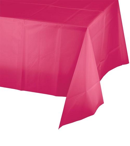 Kunststoff-Tischdecke - hot magenta - 137 x 274 cm