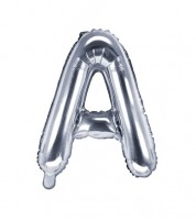 "Folienballon Buchstabe ""A"" - silber - 35 cm"