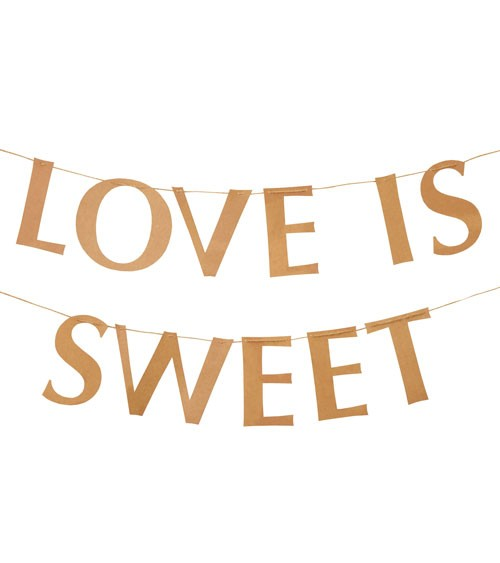 "DIY Schriftzuggirlande ""Love is sweet"" - Kraftpapier - 2 m"