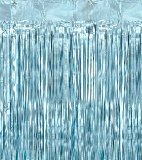 Deko-Vorhang - hellblau - 0,9 x 2,5 m
