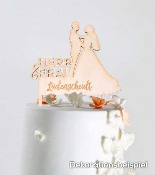 """Dein Cake-Topper """"Hochzeit"""" aus Holz - Wunschtext"""