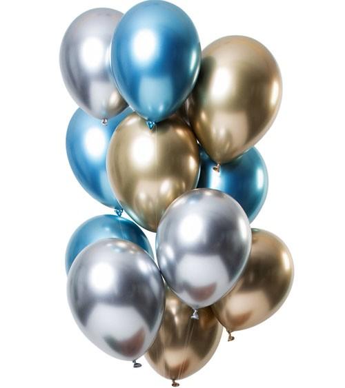 "Luftballon-Set ""Mirror Effekt"" - Saphir - 12 Stück"