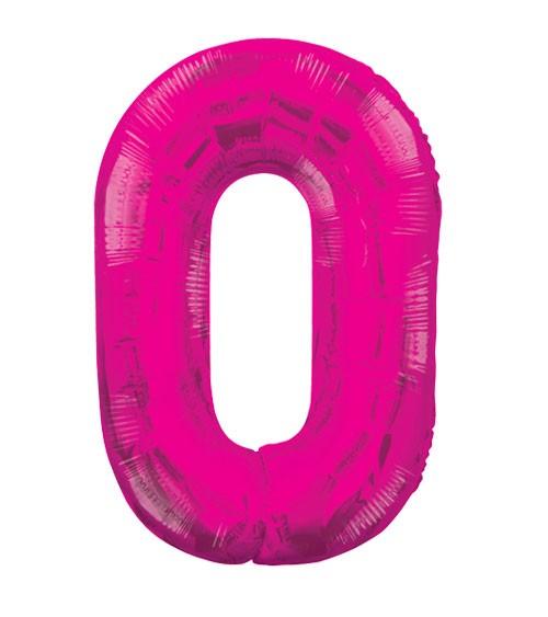 "Supershape-Folienballon ""0"" - pink"