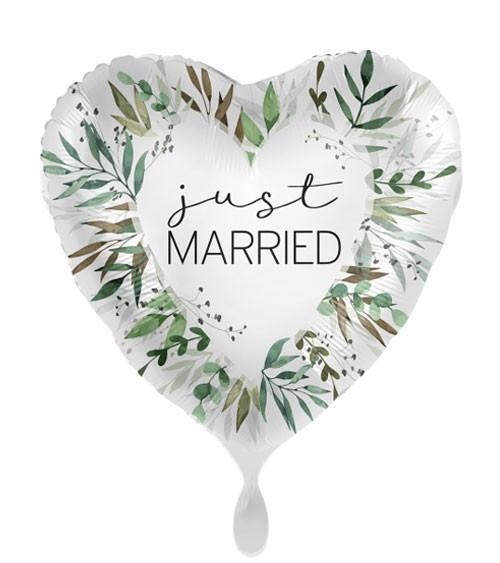 "Herz-Folienballon ""Natural Greenery Wedding"""