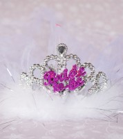 "Blinkende Tiara mit Schleier ""Bride to be"""