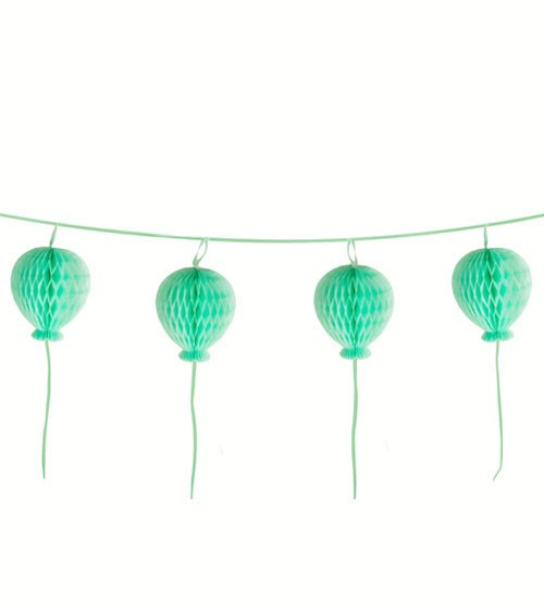 "Wabenballgirlande ""Ballons"" - mint - 1,8 m"