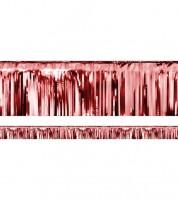 Metallic-Fransengirlande - rot - 18,5 cm x 4 m